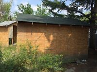 Storage Shed available  for pick up