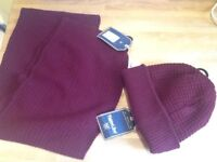 🎄Twisted Soul brand new tagged Mens hat and scarf set