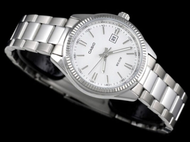 Casio Men's Steel Band Analog Dress Watch with Date Display MTP-1302D-7A1V New