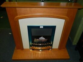A 'B modern' fire surround and LED fire brand new