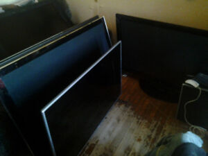 "best offer i have some 5 - 50"" plasma tv's for parts or repair s"