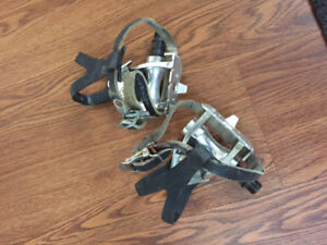 Bicycle pedals and cages/straps