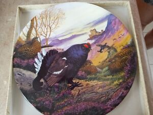 7 plates of wild birds $15.00 each, 2 plates of different theme