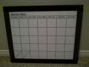 Framed Monthly Dry-Erase Board