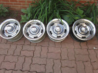 69 Camaro 14 X 7 GM rally Wheels,  1967 1968 Z28 NOS Door Guards