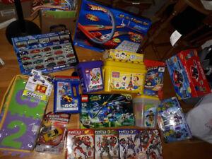 NEW   LEGO,  Hot Wheels, Mega Bloks, Duplo, Transformers, Motoc