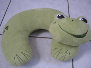 Frog travel pillow for child
