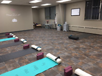 Studio space available for yoga or wellness groups