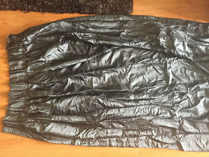 Selling 2 great quality beautiful dark silver curtains with rod