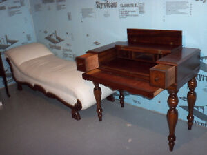 ANTIQUE DESK AND DAY BED