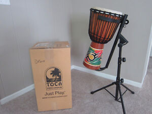 Toca Djembe and stand