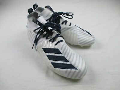 NEW adidas - White/Navy Cleats (Men's 13.5)