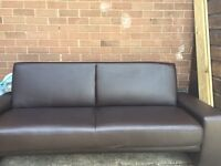 Faux Leather Sofa Bed 4 seater brown/chocolate colour