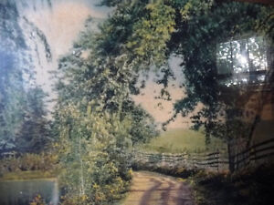 "Hand Colored Photo After Wallace Nutting ""Natural Path"" 1920's Stratford Kitchener Area image 9"