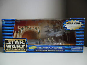 STAR WARS 1998 Micro Machines Gian Speeder and Theed Palace