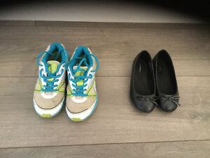 Size 11 dress shoes/ size 13 runners.