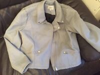 Grey jacket - papaya size 20 (more like 18)