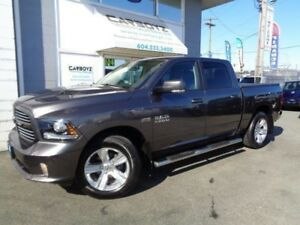 2016 Dodge Ram 1500 Sport Crew 4x4, Nav, Leather, Sunroof, Extra