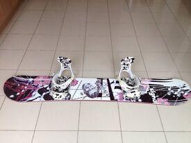 Signal Snowboard with Ride bindings