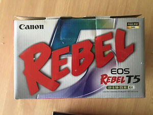Canon EOS Rebel t5 with 18-55mm lens kit