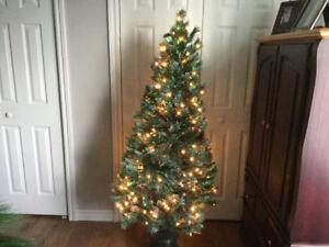 Arbre de Noël  fibre optique