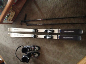 Head skis poles and boots