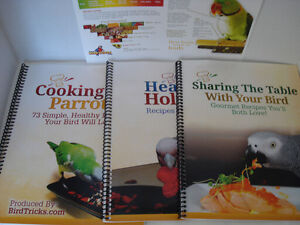 Parrot Cook Books and training DVD's