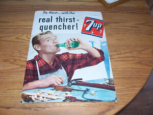 1950s Cardboard Pop Ads  $35 EACH