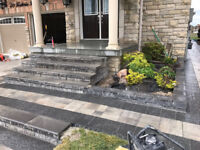 LANDSCAPING, INTERLOCKING, REPAIR PORCH DRIVEWAY PATIO STEPS MOR