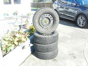 used snow tires and rims Campbell River Comox Valley Area image 1