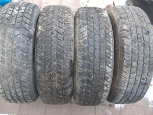 Almost new Winter 195/75/14 tires on 5x100 rims, balanced