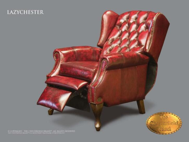 Chesterfield Stoel Tweedehands : Chesterfield fauteuil stoel model lazychester relax anti