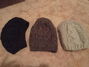 women's scarves, hats and tights