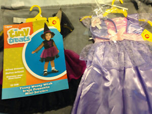 2 girls Halloween costumes new with tags