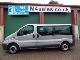 Vauxhall Vivaro 9st lwb minibus,A/con
