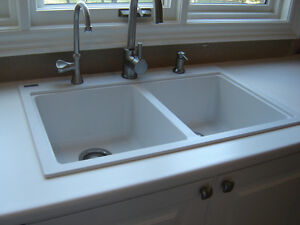 Kindred Granite 'drop in' double kitchen sink
