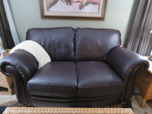 LEATHER LOVE SEAT & RECLINER CHAIR