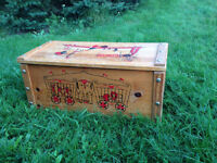 Vintage Wooden Circus Theme Toy Box