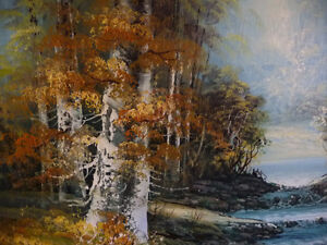 """Forest Sanctuary, Landscape by Paul Cho """"Woodland Stream"""" 1970's Stratford Kitchener Area image 4"""