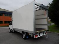 Luton box van and 2 man crew for removals, clearances, deliveries, courier (man with van)