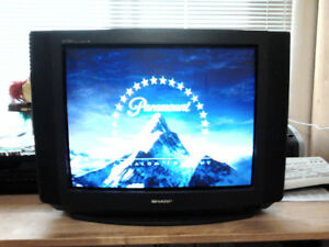 "29"" Sharp Linytron Tube TV with ATSC HD digital TV converter box"