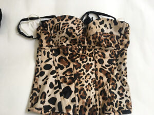 Guess Marciano Leopard print bustier brand new never worn