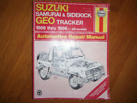 Suzuki Samurai Suzuki Sidekick GeoTracker 1986-1996 Shop Manual