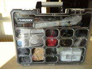 Husky Organizer Case filled w/ Light Fixture Accessories &More