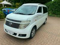 Nissan Elgrand Auto Campervan by Cruiz Campers LPG 4 Belts 2 Berth Kampa Awning