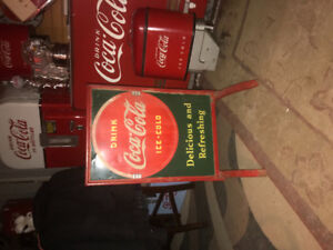 1930s Coca-Cola double-sided sidewalk sign
