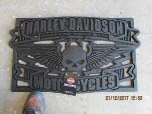 Harley Davidson front entrance soft rubber mat,
