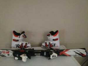 Rossignol ski boots 20.5 and Technopro skis 100cm