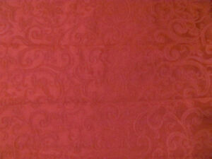 "Tablecloths (2), damask, burgundy; one 54""x85"", one 39""x87"" Kitchener / Waterloo Kitchener Area image 1"