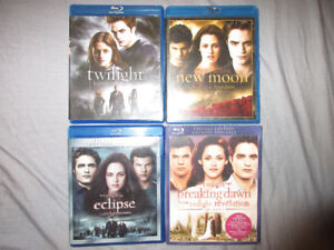TWILIGHT 1,2,3,4 BLURAY MOVIES